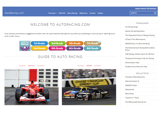 GUIDE TO AUTO RACING
